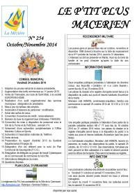 Le Ptit Plus Octobre-Novembre 2014