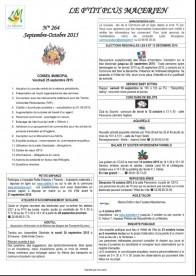 Le P'tit Plus N° 264 sept/oct 2015