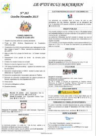 Le P'tit Plus N°265 Oct/Nov 2015