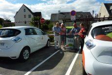Inauguration de la borne de recharge pour véhicules électriques