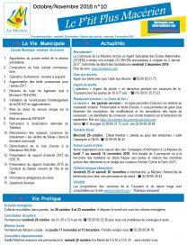 Le P'tit Plus n°10 oct/nov 2016