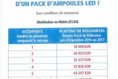 Ampoules LED* pour les habitants de La Mézière