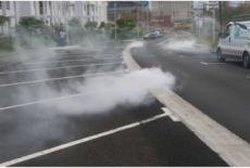 Contrôle des branchements d'assainissement par dispositif fumigene