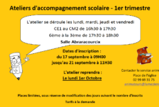 Ateliers d'accompagnement scolaire
