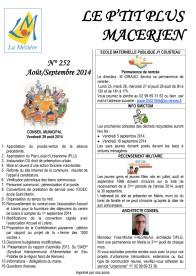 Le Ptit Plus Août-Septembre 2014