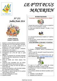 Le Ptit Plus 251 Juillet-Août 2014