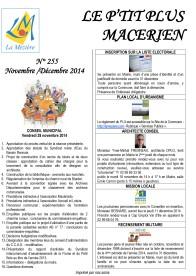 Le Ptit Plus Novembre-Décembre 2014