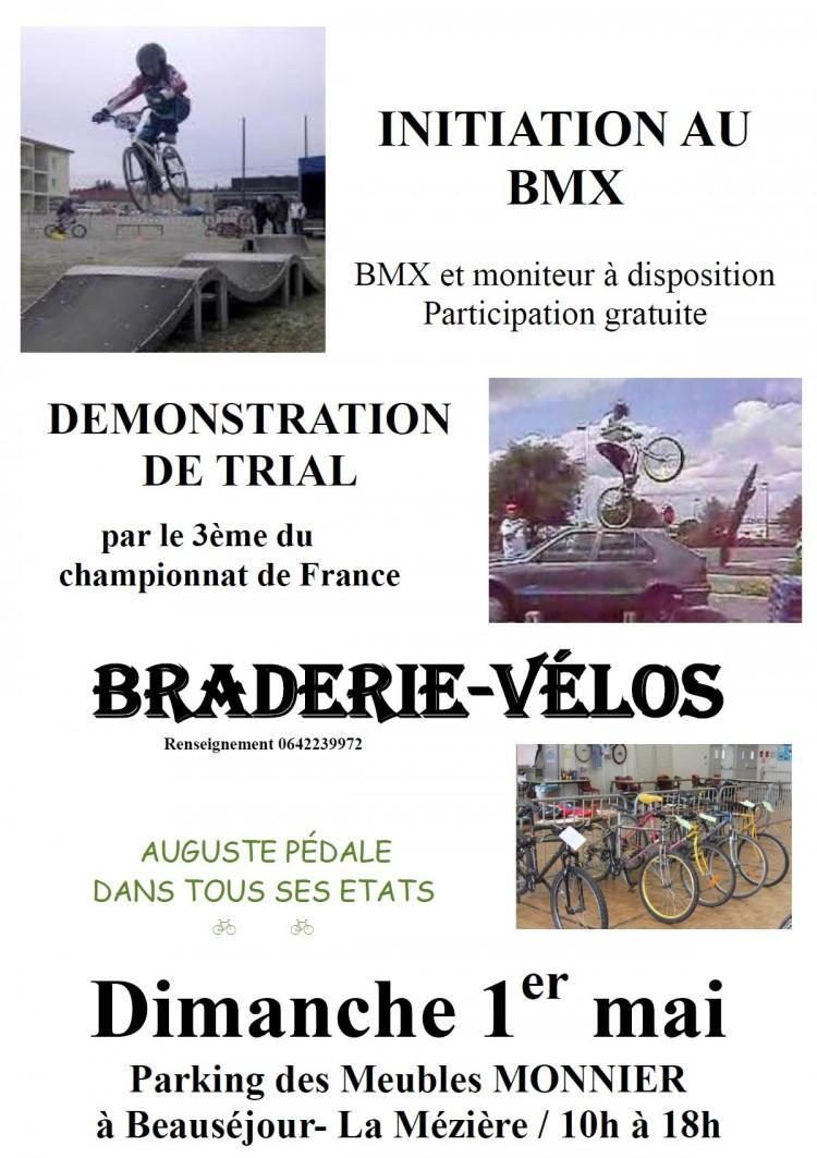 Braderie vélos, BMX, trial, Spectacles