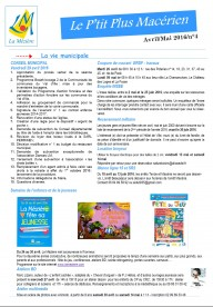 Le P'tit Plus n°4 avril/mai 2016