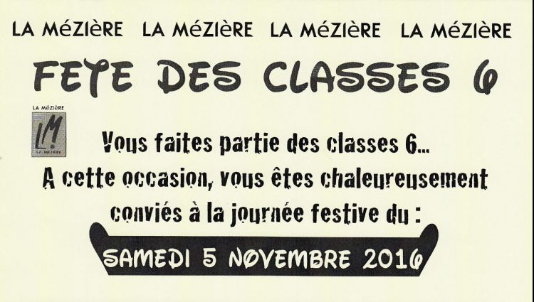 Les Classes 6