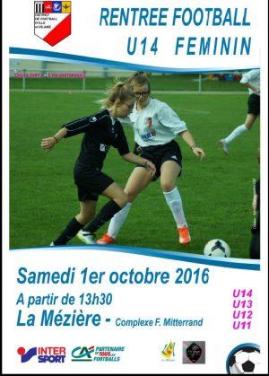 Rentrée Football U14 Féminin