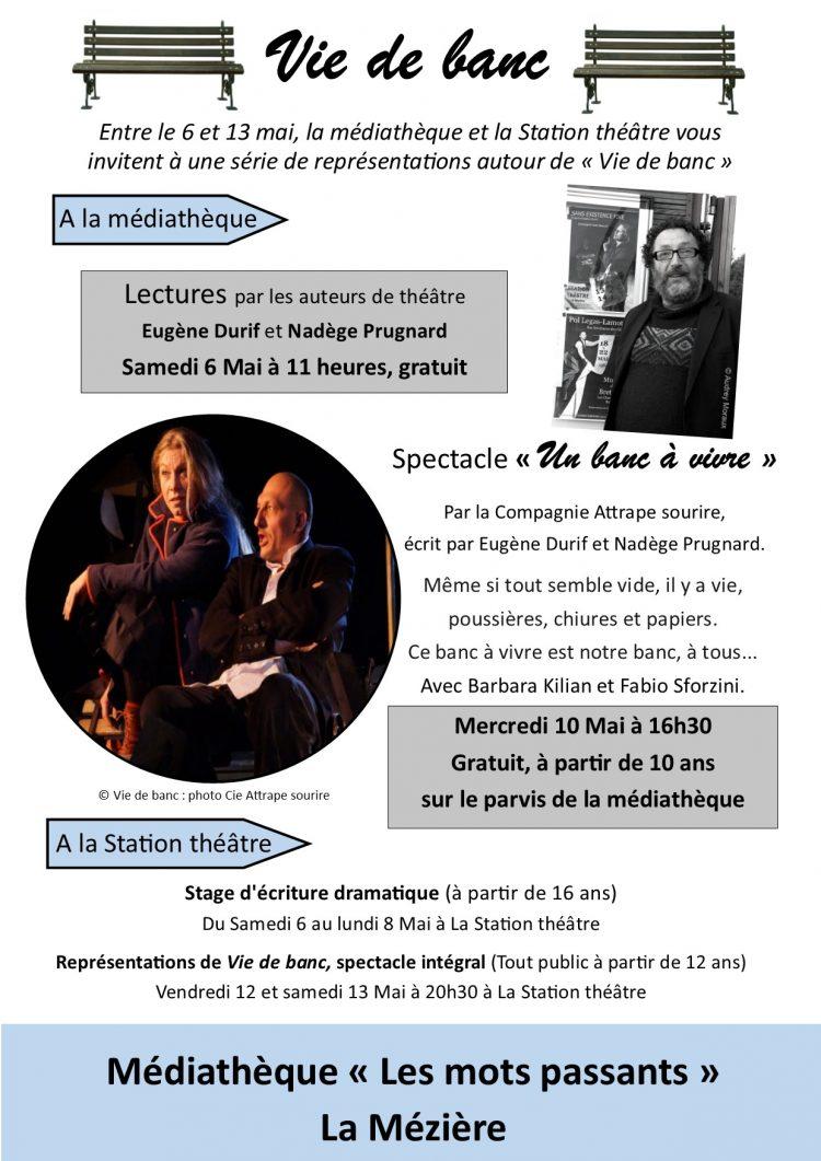 Lectures par Eugène Durif et Nadège Prugnard
