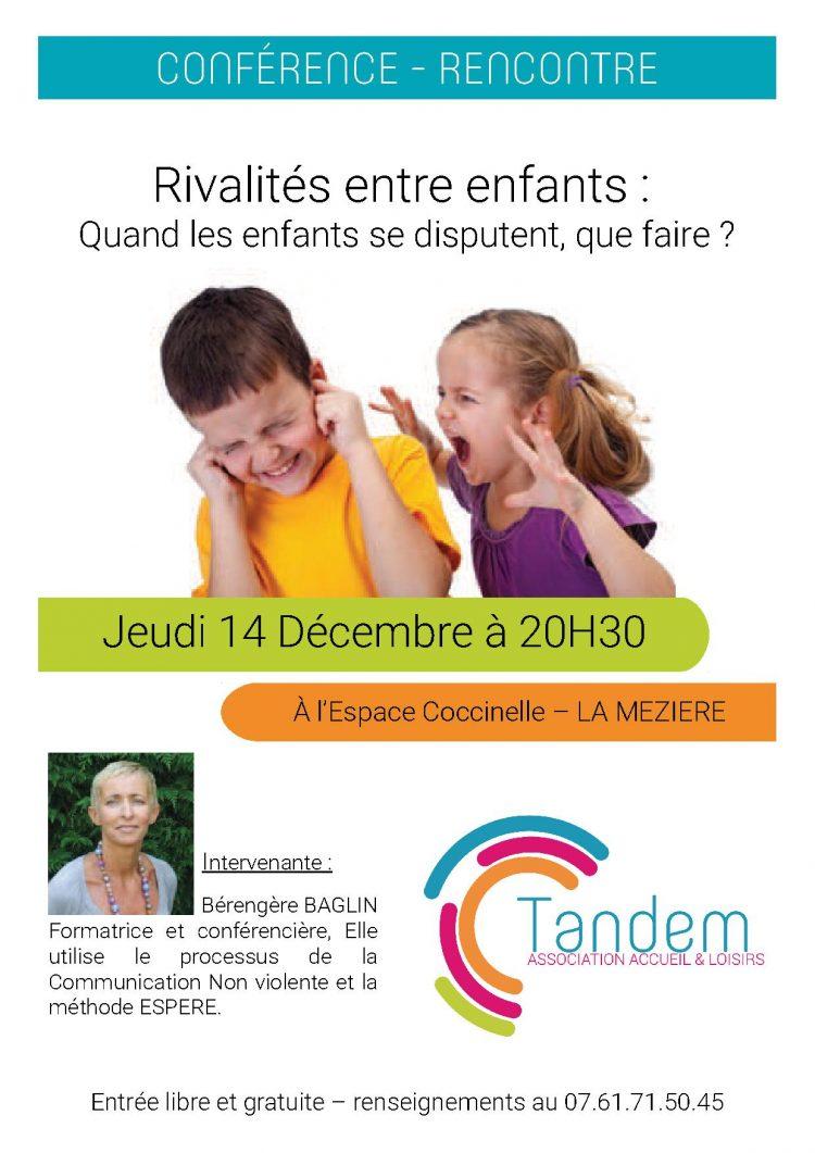 Conférence «Rivalités entre enfants: quand les enfants se disputent, que faire?»