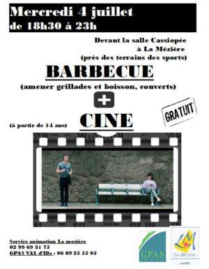 Soirée barbecue  et ciné