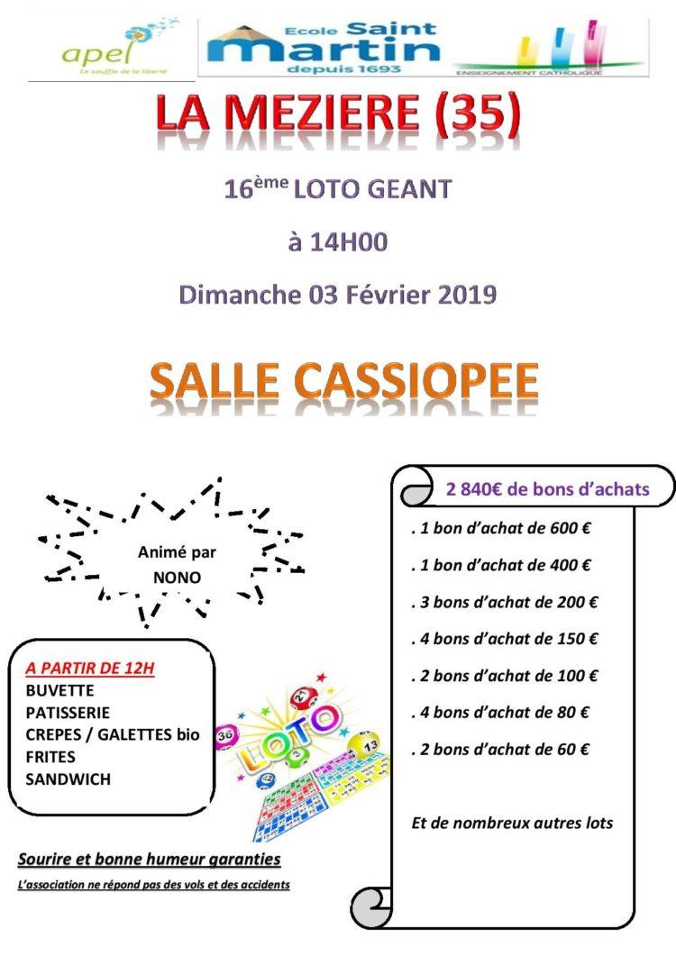 16 eme Loto Géant