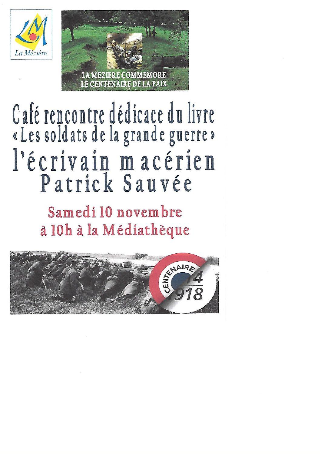 Café rencontre et dédicace du livre «Les soldats de la grande guerre»