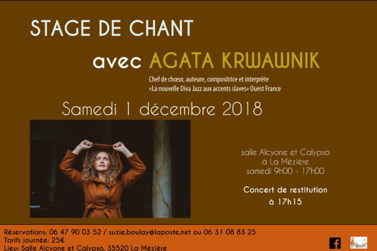 Stage de chant avec Agata KRWAWNIK