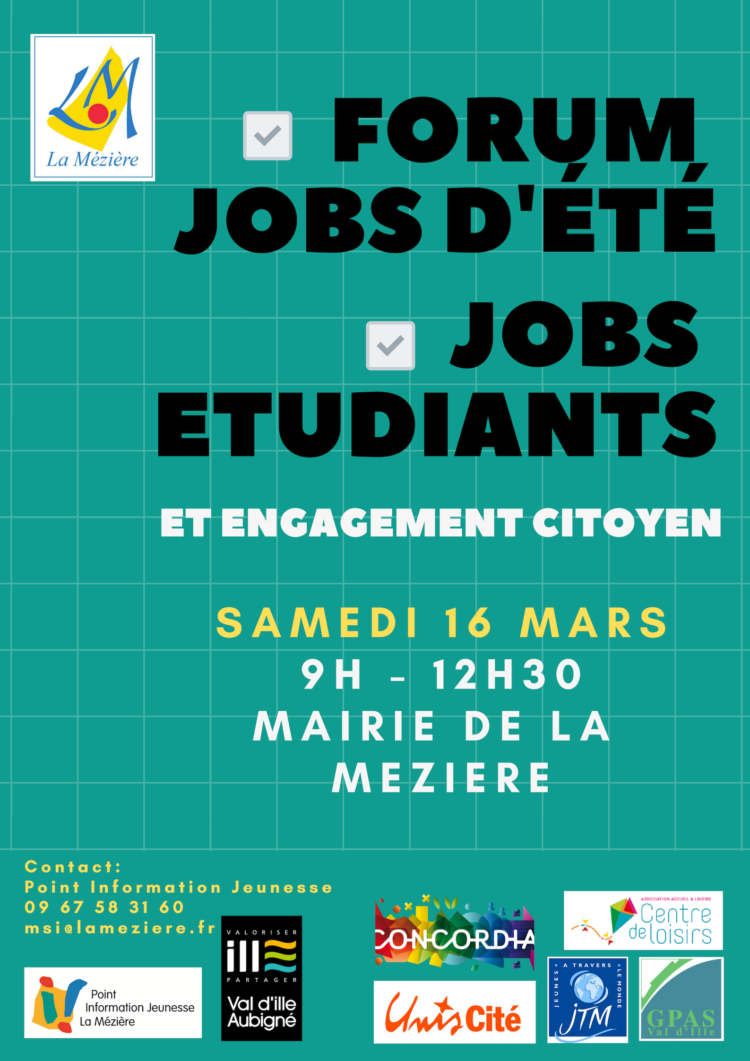 Forum jobs d'été, jobs étudiants et engagement citoyen