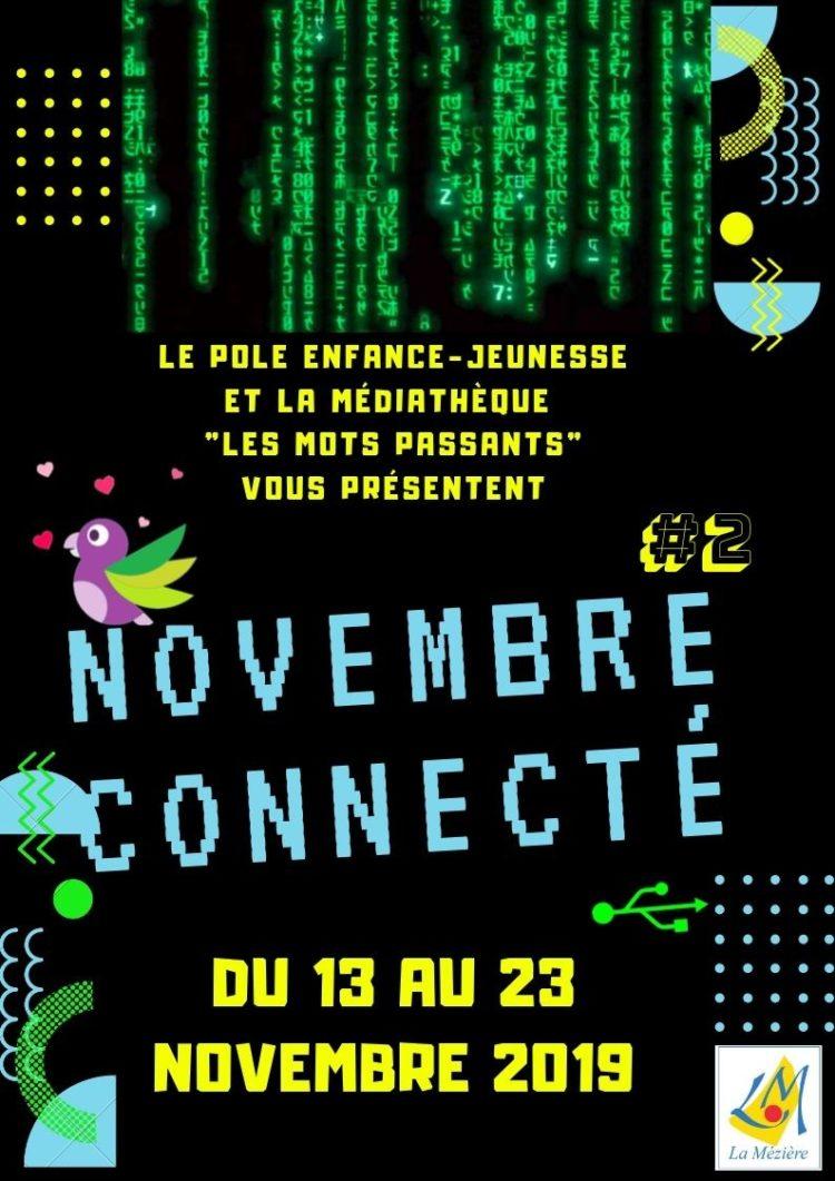 Novembre connecté du 13 au 23 novembre – Programme