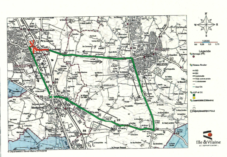 Travaux assainissement – Fermeture route de Melesse du 10 au 20 décembre