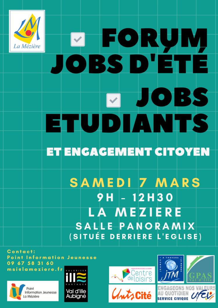 Forum jobs d'été, étudiants et engagement citoyen 2020
