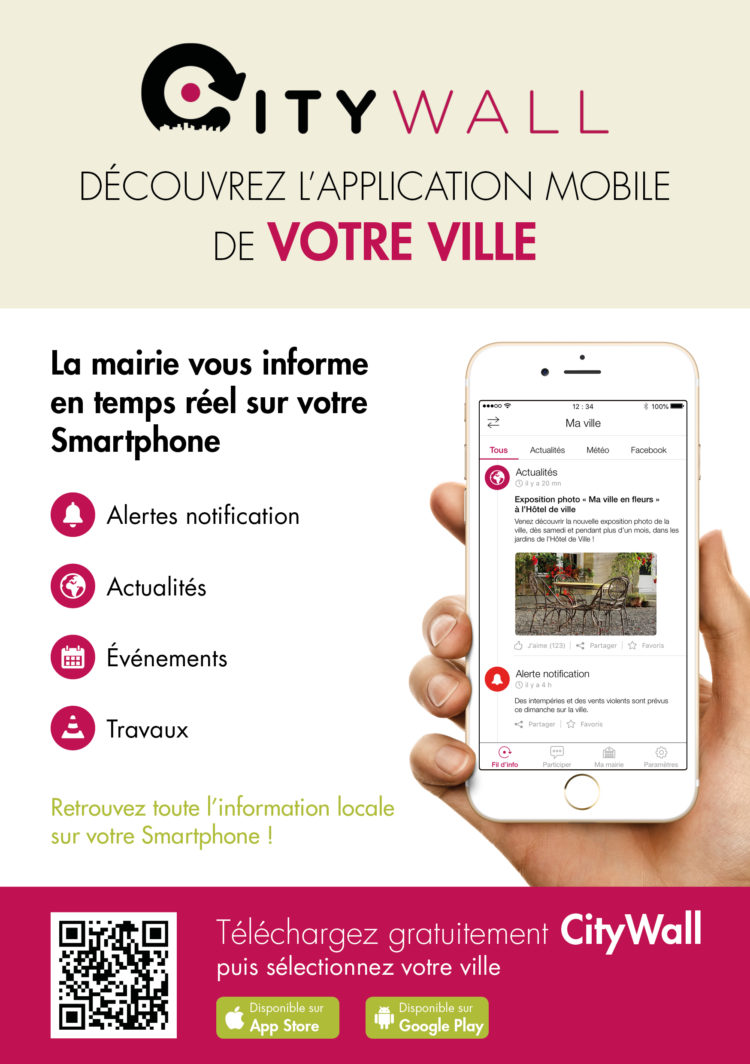 Application CityWall – Suivez en direct l'actu de la Commune !