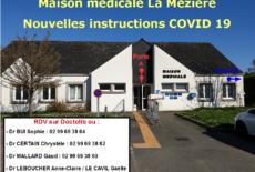 Communiqué de la maison médicale – COVID 19