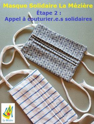 Masque solidaire La Mézière – Appel à couturier.e.s solidaires