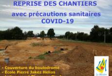 Reprise des chantiers avec précautions sanitaires