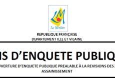Enquête publique pour la révision des zonages d'assainissement
