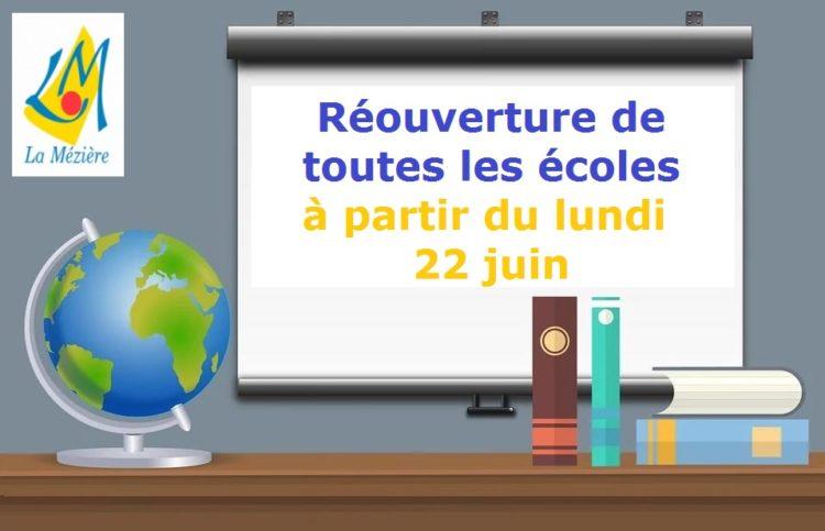 Réouverture de toutes les écoles pour tous les enfants – Lundi 22 juin