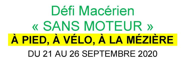 Défi Macérien « SANS MOTEUR »