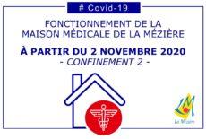Nouvelles mesures COVID au cabinet médical