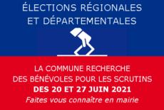 Bénévoles pour les élections départementales et régionales