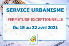 Service Urbanisme – Fermeture exceptionnelle