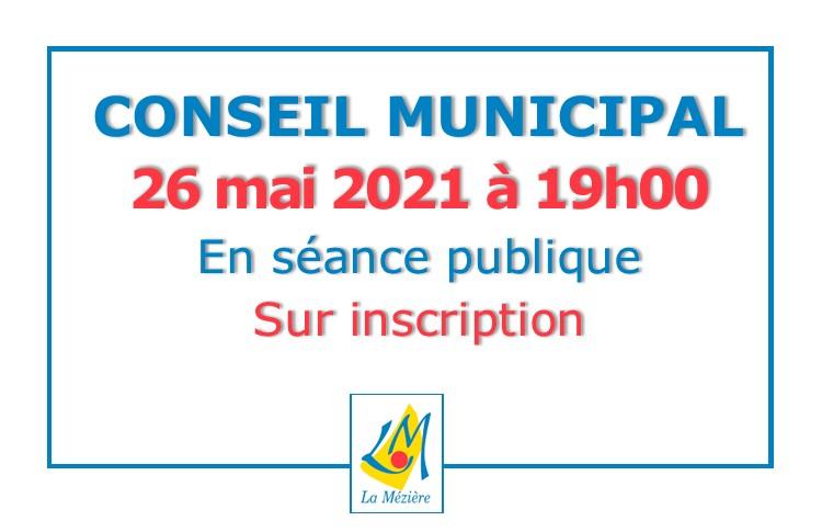 Conseil municipal en séance publique
