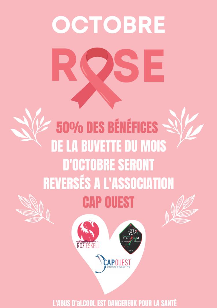 Octobre Rose – Le club de foot de la Mézière Melesse s'engage